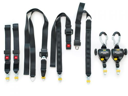 Unwin - Rail Tracking - 4 Point Adjustable Straps/Quattro Express & 3 Point Removable Static Occupant Restraints